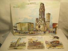 Vintage 60er Jahre Berlin Andenken Set : Gedächtniskirche / Ku-Damm -Mid Century