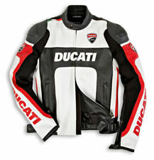 Handmade Ducati Corse Style Leather Motorcycle Jacket