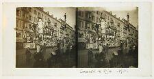 Carnaval de Nice Côte d'Azur France Plaque de verre stereo 1910