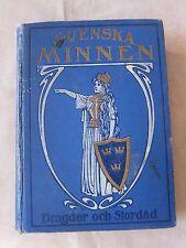 Old Book Svenska Minnen by Bragder Stordad In Swedish Early 1900's GC