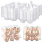Zezzxu Egg Cartons 48 Packs, Clear Plastic Egg Cartons Bulk Empty Chicken Egg -