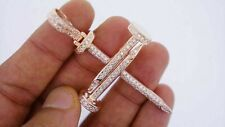 1.40Ct Round Cut VVS1/D Diamond Nail Cross Pendant For Men's 14K Rose Gold Over