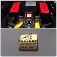 "BRABUS V12 BITURBO 800 Style Emblem/Shield ""Built by Brabus"""