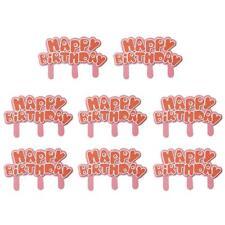 8pcs/Lot Children Happy Birthday Cupcake Toppers Dessert Party Baking Decor S1#