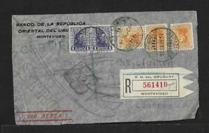 URUGUAY TO UK AIR MAIL COVER 1934
