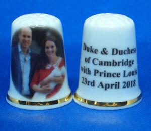 Birchcroft China Thimble Prime Ministers of UK Free Box David Cameron