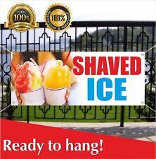Shaved Ice Banner Vinyl / Mesh Banner Sign Flag Many Sizes Flag Carnival Food