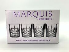 "Marquis by Waterford Brady Made in Germany Double Old Fashioned 4"" 4pc MSRP $100"