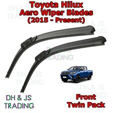 (15-19) Toyota Hilux Aero Wiper Blades / Front Flat Blade Wiper Hi Lux Hi-Lux