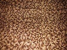 MichaelMiller Bitmap brown blocks style100%cotton fabric,fat quarter freep&p,