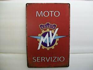 MV Agusta Blechschild Service Moto Klassik Retro Logo Emblem 20x30 cm