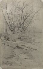 Canadian Artist Lambton Mills Toronto Pencil Drawing by Mahlstick Club? 1900