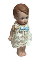 "Germany frozen Charlotte doll bisque jointed arms 3.5"" artist Marge Anders A"