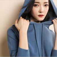 New Women's Cashmere Sweater Female Loose Wool Sweater Stars Hoodie Sweater SZ
