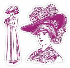 Sizzix Framelits Lady with Hats set #657854 MSRP $24.99 6 DIES & STAMPS!