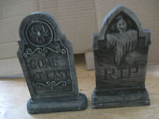 Lot of two Halloween Tombstone Decorations