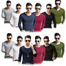 Fashion Men Slim Fit Tee Cotton V-Neck Long Sleeve Casual T-Shirt Tops Blouse