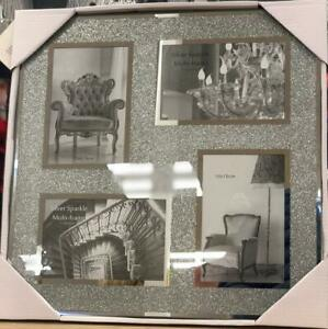 """Crushed Jewel Multi Aperture Photo fits 4 photos 6x4"""" inches multi-picture frame"""