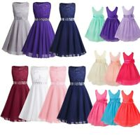 Flower Girl Princess Dress Party Wedding Bridesmaid Pageant Formal Ball Gown