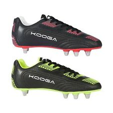 KOOGA BLITZ 2 EIGHT STUD RUGBY BOOTS BLACK/FLUO LIME