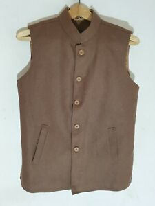 Men's Flannel Insulated Wool Waistcoat (Size Small)