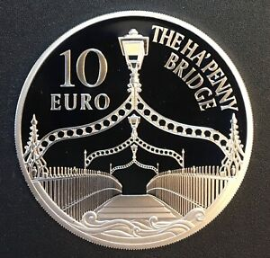 Ireland - Silver 10 Euro Coin - 'Ha'Penny Bridge' - 2017 - Proof