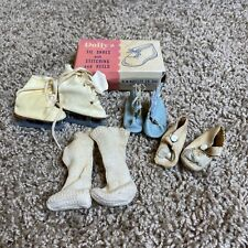 Rare Vintage Baby Doll Shoes Ice Skates Dolly's
