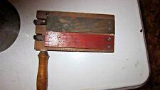Antique Primitive Wooden Noise Maker/Fire Alarm