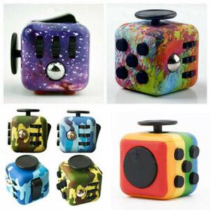Camo Fidget Cube Spinner Toy Children Desk Adults Stress Relief Cubes ADHD UK