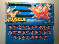 #2 Cosmic Crunchers Set M.U.S.C.L.E. Muscle MEN Mattel Vintage Figure Lot
