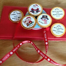 5 Personalised christmas chocolate coins  ideal stocking filler for Anyone
