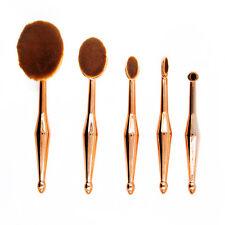 5Pcs Rose Gold Makeup Brushes Foundation Lip Eyeshadow Cosmetics Set Tools