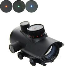 Tactical Hunting Holographic 1x30mm Red Green Blue Dot Sights 11mm & 20mm Rail