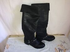 Kensie Girl Women's 'Gianno' Size 5 1/2 Black Cuffed Knee High Faux Leather Boot
