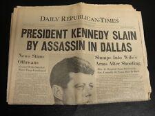 PRESIDENT JFK JOHN F. KENNEDY NOV 22 1963 NEWSPAPER ASSASSINATION