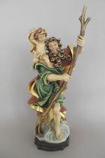 Heiliger Christophorus ca. 38 cm hoch, Holz geschnitzt bemalt, Holzfigur Nr. RF