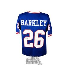 Saquon Barkley Autographed New York Giants Custom Football Jersey - JSA COA (B)