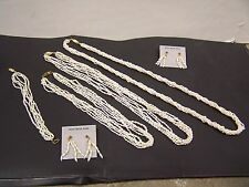 FRESHWATER PEARL NECKLACES, BRACELET AND EARRINGS