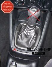 FITS TO VOLKSWAGEN GOLF BORA 98-05 GEAR BOOT LEATHER EMBROIDERY BLACK EDITION