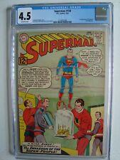 SUPERMAN #158 CGC 4.5; OW 1/63