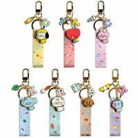 Official BT21 Baby Strap Metal Keyring Bag Charm 7 Types / K-POP BTS Goods