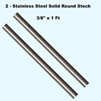 """Stainless Steel Solid Round Rod 5//8/"""" x 3 Ft Corrosion Resistant Unpolished Stock"""