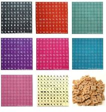 100 X Plastic/Wooden Scrabble Letters Tiles Black/White Letters Match And Mix