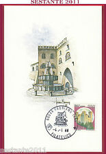 ITALIA MAXIMUM MAXI CARD FABRIANO ANCONA FONTANA ROCCA VIGNOLA MODENA 1988  B76