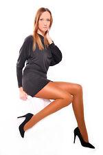 Tan womens beautiful opaque medium glossy tights with gusset S M L XL XXL