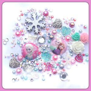 Disney Pink & Aqua Frozen Theme Cabochon flatbacks for decoden crafts #2