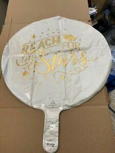 "Graduation Reach for the Stars 17"" Foil Grad Balloon New!!!"