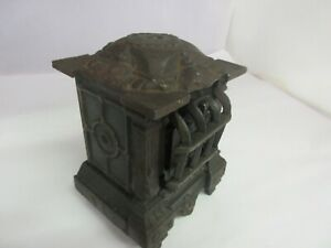 VINTAGE   CAST IRON HEATROLA  BANK SAVINGS BANK TIN    297-F