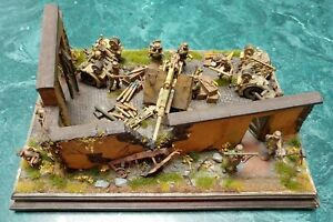 1/35 Built Normandy 1944 8.8 cm Flak 36 Diorama with HTF accessories!!!