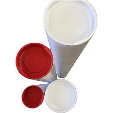 10-Cardboard White Mailing Tube Mailing Tubes 450x60x1.8mm  poster mailer